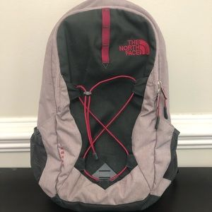 The North Face Jester purple & gray backpack